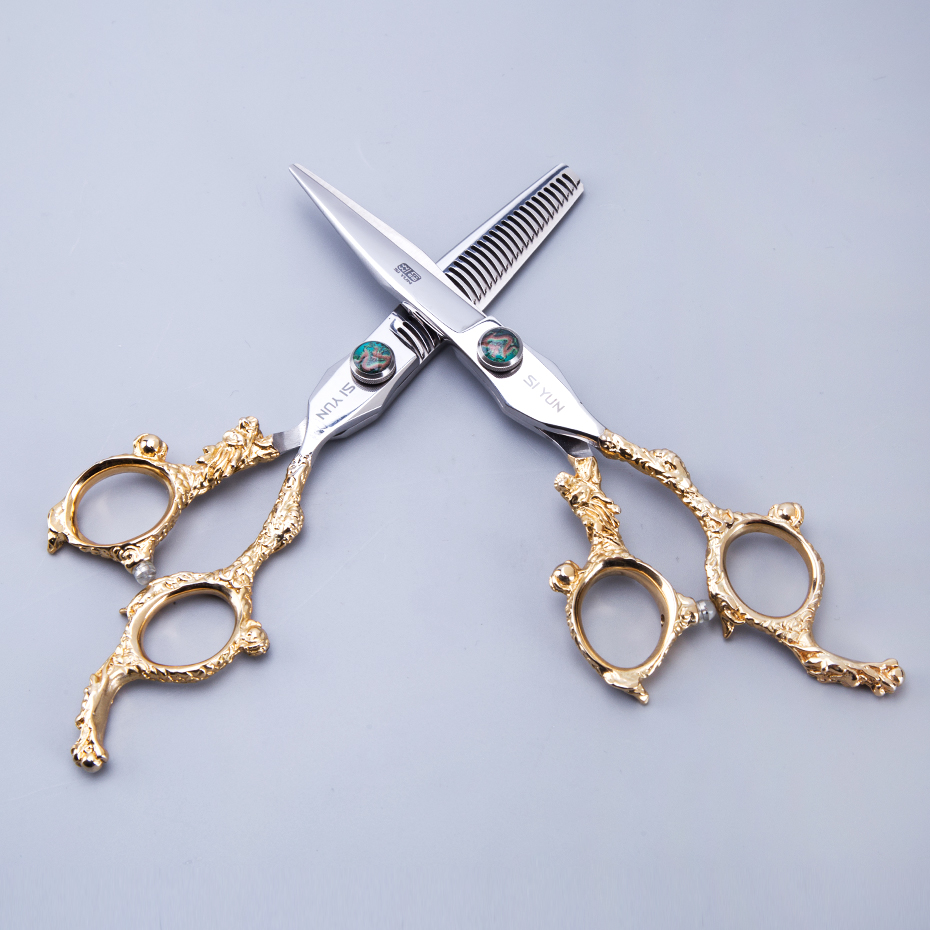 SI YUN 6.0inch(17.00cm) length DG60 model thinning type kasho hair scissors set