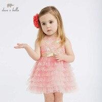 DBM10312 デイブベラ夏の女の赤ちゃん服子供の誕生日パーティーウェディングドレス子供刺繍ブティックドレス