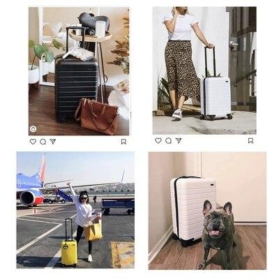 Cuento de viaje de alta calidad, ultra ligero, maleta de viaje elegante y simple de 20/24/28 pulgadas-in Equipaje de ruedas from Maletas y bolsas    3