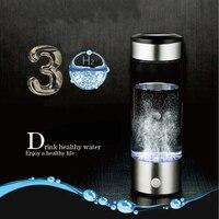 Hygrogen rich Water Bottle 420ml Portable Hydrogen Water Generator high borosilicate glass Fast Electrolysis Hydrogen Maker