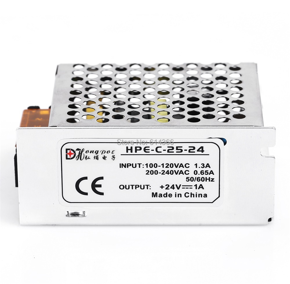 5 PCS 24V 1A 25W Switching Power Supply Driver for LED Strip AC 100-240V Input to DC 24V free shipping 1200w 12v 100a adjustable 220v input single output switching power supply for led strip light ac to dc