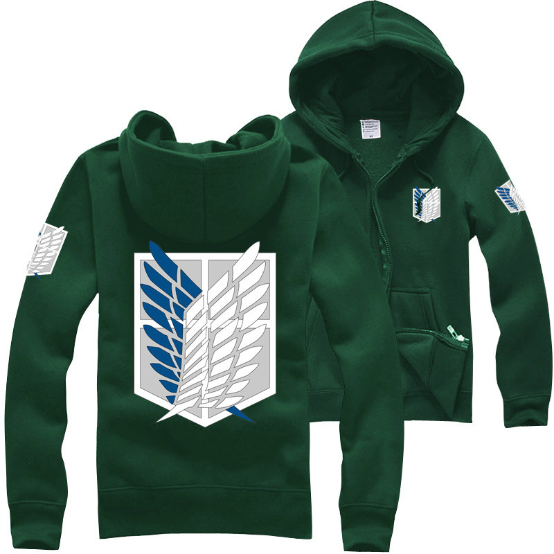 Hot Sale Unisex font b Anime b font Attack on Titan Hoodies Jacket Sweatshirt Shingeki no