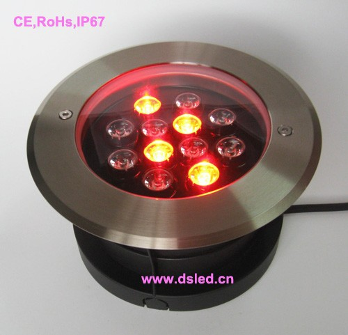 CE,IP68,high power 12W RGB LED outdoor spotlight,good quality stainless steel fitting SL304,EDISON Chip,DS-11S-09-12W-RGB