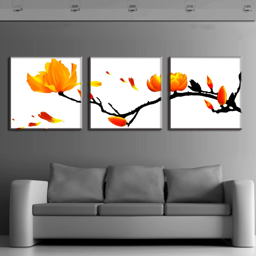 aliexpresscom  buy  pcsset modern wall paintings framed flower  - aliexpresscom  buy  pcsset modern wall paintings framed flower oilpainting on canvas classic blooming branches wall art picture homedecoration from