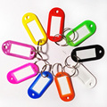 100pcs/pack Assorted Red Pink Green Blue Yellow Crystal Plastic Key Card Classification Brand Number Card Label Tags  Split Ring
