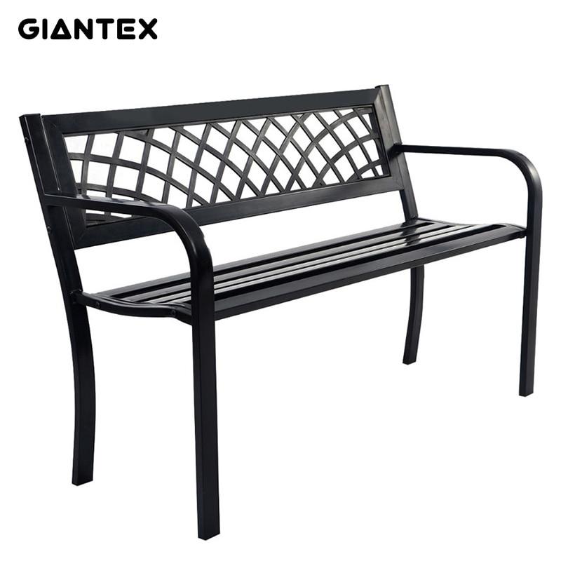 GIANTEX High Quality Antique Cast Aluminum Park Patio Bench Garden Chair Outdoor Furniture Seat OP2781