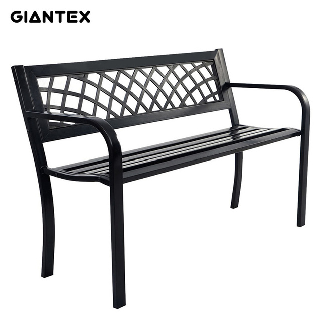 GIANTEX High Quality Antique Cast Aluminum Park Patio Bench Garden Chair  Outdoor Furniture Seat OP2781