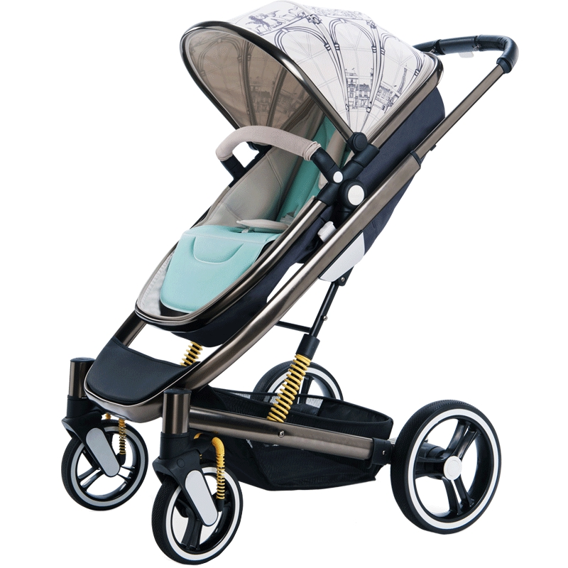 Babyruler Stroller Can Sit and Lie Shock Proof High Landscape Two-way push pram холодильник pozis rs 411 w