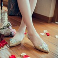 Rhinestone Women Slip On Sequin Loafer Wedding Bridal Shoes Flat Pointy Toe Chic K1318