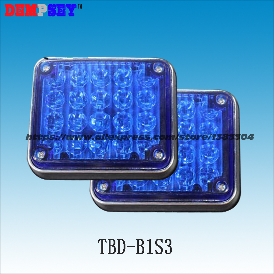 Dempsey Strobe Warning Light LED Surface Mount Flashing Warning Blue LED Light for ambulance emergency vehicle(TBD-B1S3) 3 mode blue light led flashing dog collar blue 2 x cr2016