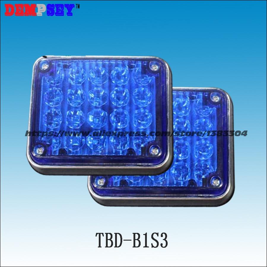 Dempsey Strobe Warning Light LED Surface Mount Flashing Warning Blue LED Light For Ambulance Emergency Vehicle(TBD-B1S3)