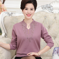 Women S Autumn Wool Sweater Middle Aged Women S Mother Loaded Sweater Mother In Law Installed