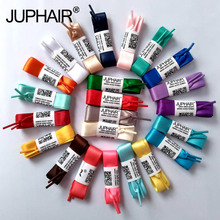 JUP 50 Pairs Fashion Flats Silk Ribbon Colorful Fantastic Princess Colorful Women Lady Shoelaces Sneakers Sports Shoes Fantastic