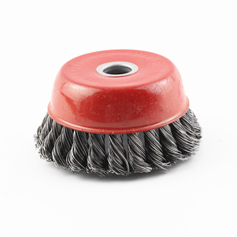 4 Inch 100mm M14 Bowl Shape Steel Wire Abrasive Wheel For Polishing Cleaning Removing Remover Non Crumble
