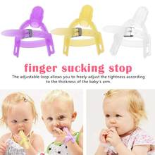 Baby Teethers Thumb Gloves Nontoxic Silicone Kids Finger Guard Stop Sucking Wrist Band New Bite Prevention