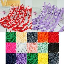 5 ярдов Вышивание интимные аксессуары 10 мм кружево помпоном отделкой Pom кисточкой лента с бахромой с шариками DIY материалы одежда ткань шнур