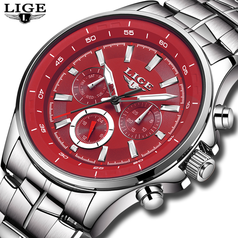 LIGE Watch Men Business Waterproof Clock Mens Watches Top Brand - Men's Watches