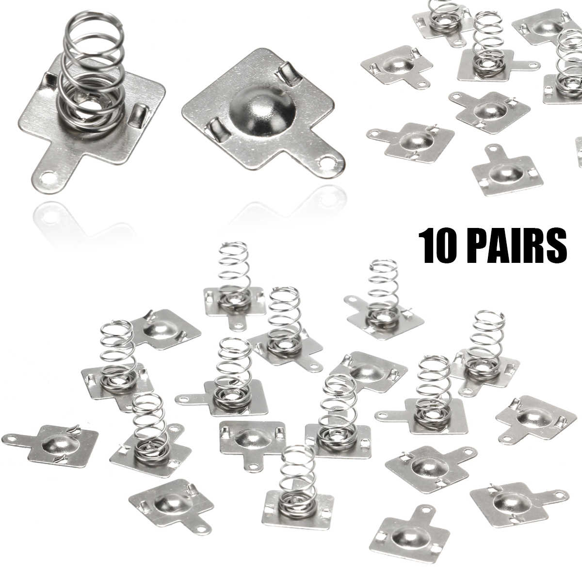 10Pair Replacement Metal Batteries Spring Contact Plate For AA AAA Batter SEHH