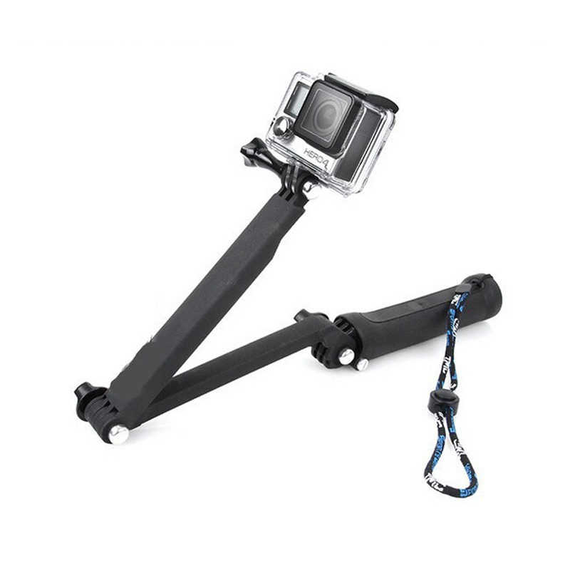 GoPro อุปกรณ์เสริม Monopod 3-Way Multi-Function Folding ARM LEVER สำหรับ GoPro SJCAM SJ4000 SJ5000 SJ7 SJ8 SJ9 Series
