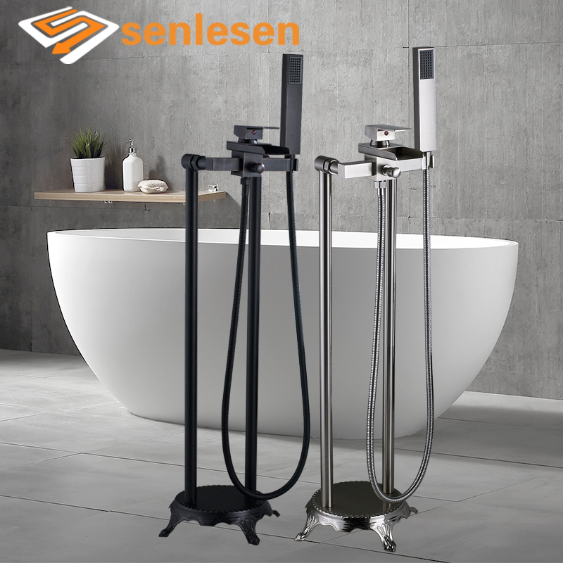 Wholesale and Retail Bathtub Faucet Single Handle Bath Waterfall Faucets Hot and Cold Water Mixer Tap Para Bathroom туристический коврик bswolf cl010 200