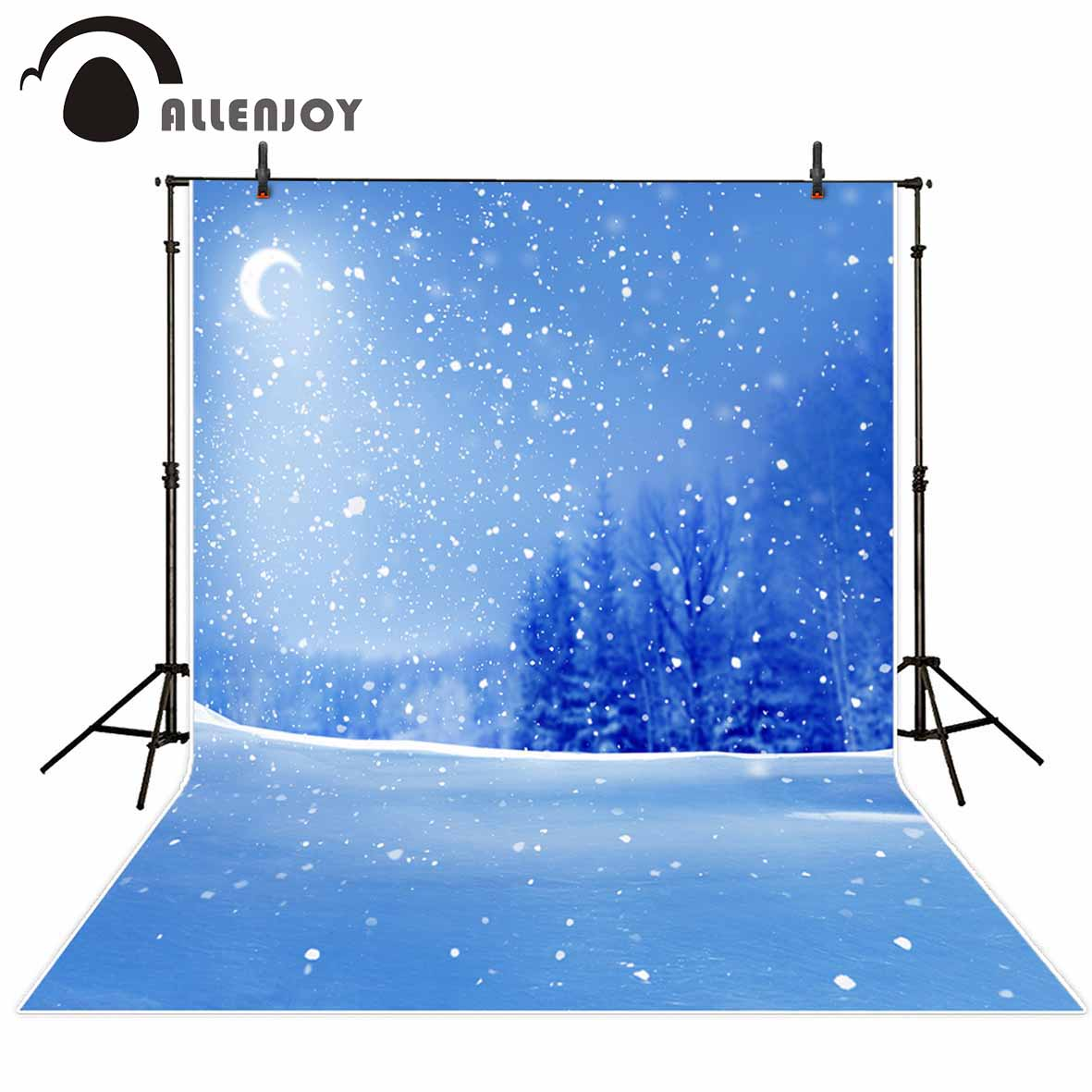 Allenjoy polyester photography backdrop Night snowflakes blurry natural scenery new background photocall customize photo printed kate background natural scenery
