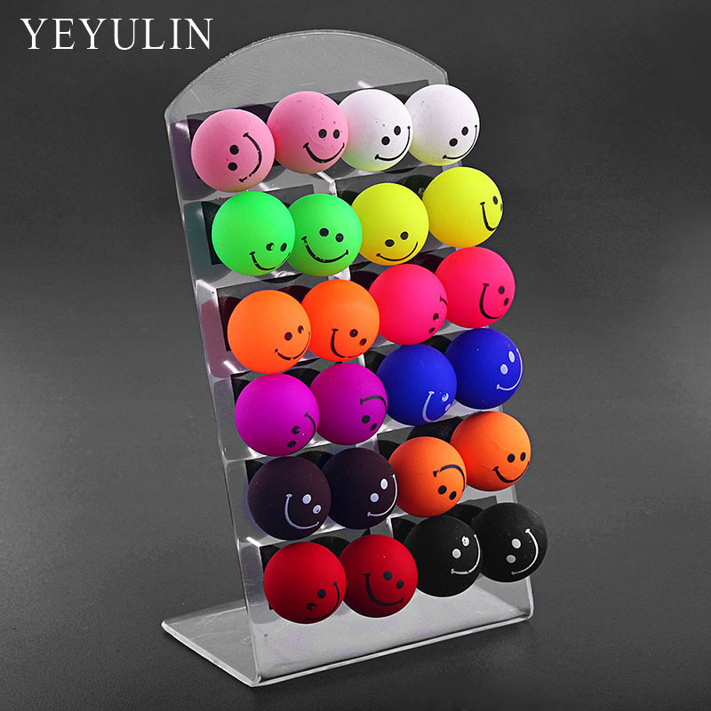New Arrival Cute Emoji Colorful Acrylic Smile Face Stud Earrings 12pairs /card Cartoon Ears Jewelry For Woman