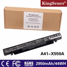 KingSener A41-X550A Laptop Battery For ASUS A41-X550 X450 X550 X550C X550B X550V X550D X450C X550CA A450 A550 15V 2950mAh