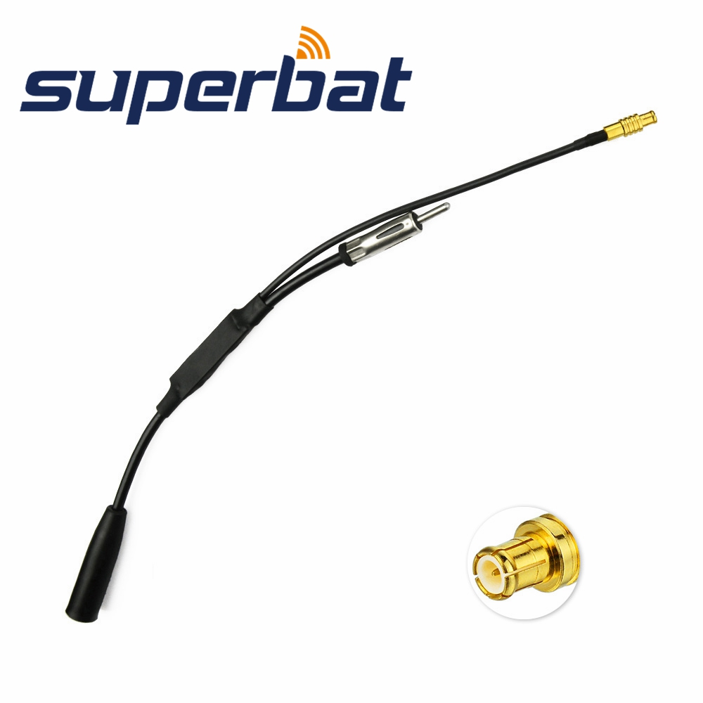 Superbat DAB+ DAB Antenna Aerial Amplifier Splitter Adapter Cable Car Radio Audio Active MCX Male Plug For DAB+ USB Tuner
