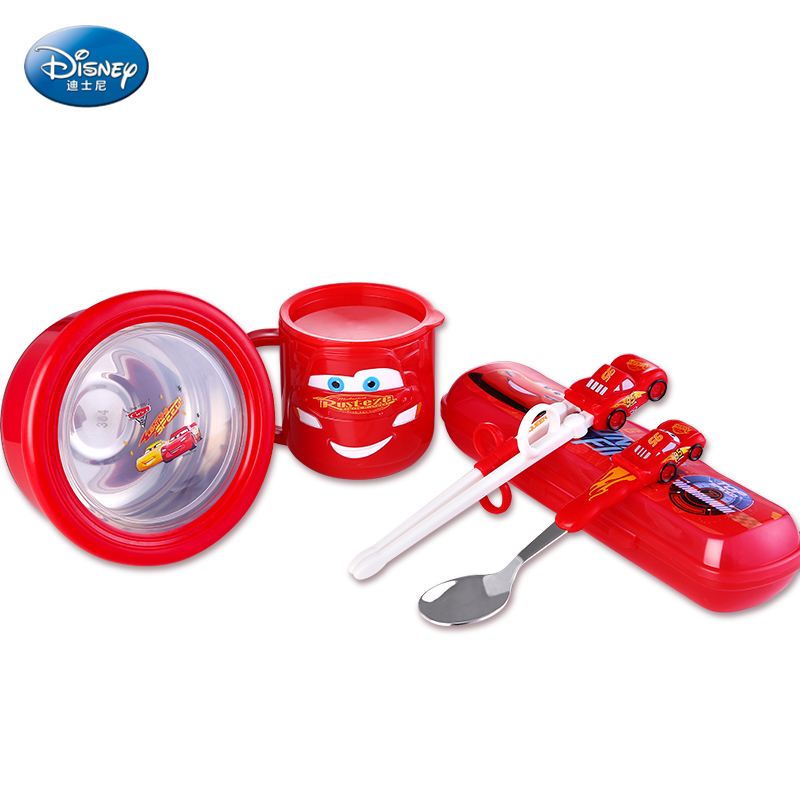 5pcs/set Baby Feeding Dishes Set Bowl Grid Plate Forks Kids Dinnerware Stainless Steel Food Container Children Tableware BPAFree