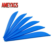 60/30/20pcs Archery Arrow Feather 3inch Drop Shape Rubber TPU Fletching Vanes Hunting Accessory