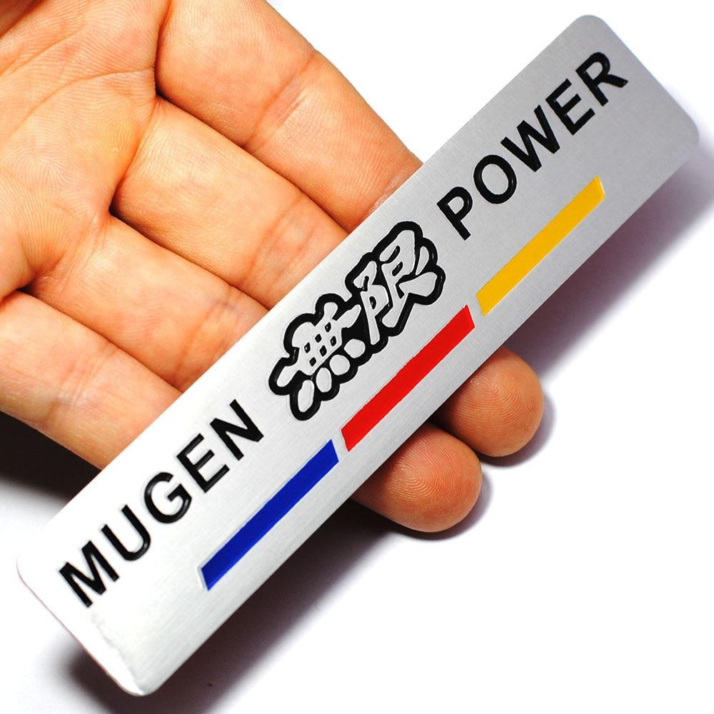 Logo honda rouge - Auto Car Aluminum Red Mugen Power Car Sticker Emblem Chrome Logo Rear Badge For Honda Civic