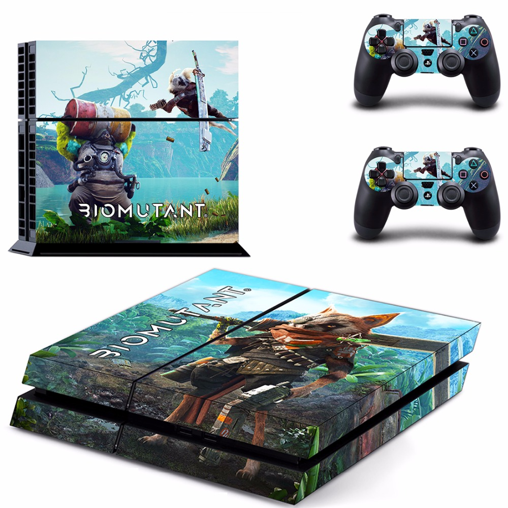 Game BioMutant PS4 Skin Sticker Decal For Sony PlayStation 4 Console and 2 Controllers PS4 Skins Stickers Vinyl