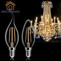 220 В C35 C35L E14 E27 СВЕТОДИОДНЫЕ Лампы Эдисона Реальная Власть 2 Вт 4 Вт лампада ПРИВЕЛО Стекло Лампочки Теплый Холодный Белый Энергосберегающее Освещение Для Дома
