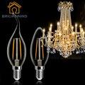 220 V C35L C35 E14 E27 LLEVÓ el Bulbo Edison Poder Real 2 W 4 W Lampada LED Bombilla Caliente Ahorro de Energía Blanca Fría Iluminación del Hogar de Cristal
