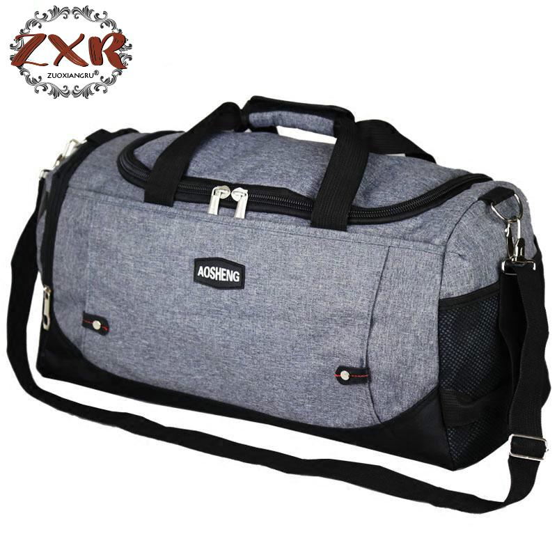 Men Woman Bags Durable Multifunction Tote For Male Gray Large Capacity Polyester Traveling Tote Duffle Bag Unisex Handbags