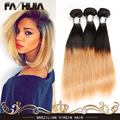 fashijia Hair Product Brazilian Hair Weave Bundles Two Tone Virgin Hair Bundles Straight 1B 27 Brazilian Human Hair Extensions