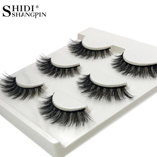 Aliexpress Buy Shidishangpin 3 Pairs Mink Eyelashes Natural