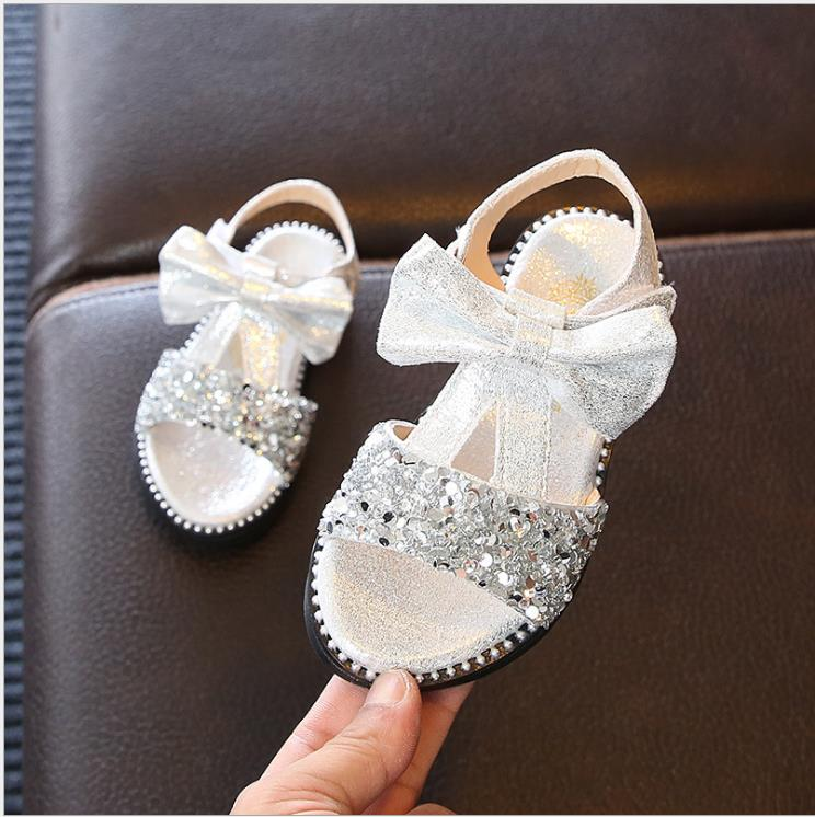 Girls Princess Sandals New Summer Crystal Sandals Girls Shiny Summer Shoes Children Lovely Bow Sandals For Girls party ShoesGirls Princess Sandals New Summer Crystal Sandals Girls Shiny Summer Shoes Children Lovely Bow Sandals For Girls party Shoes