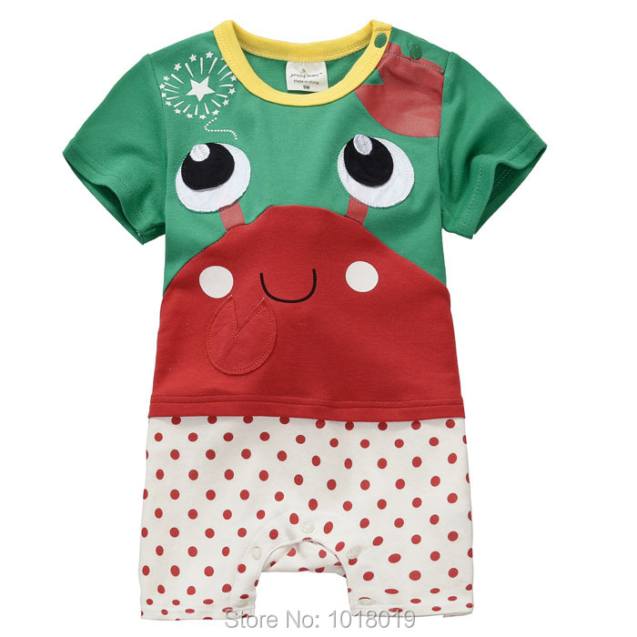 a14434a8716 100% Combed Cotton Quality Ropa Bebe Newborn Baby Girls Baby Clothing  Clothes Creeper Jumpsuit Baby Rompers Branded Short Sleeve