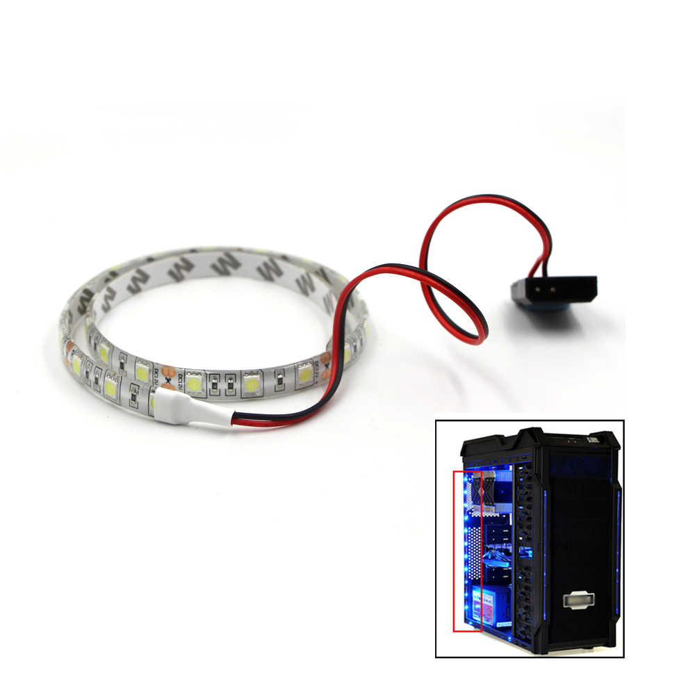 Magia RGB elastyczna taśma LED, jasna interfejs zasilania Sata dla PC obudowa komputera 60led/m pilot zdalnego sterowania taśmy pasek świecący światła
