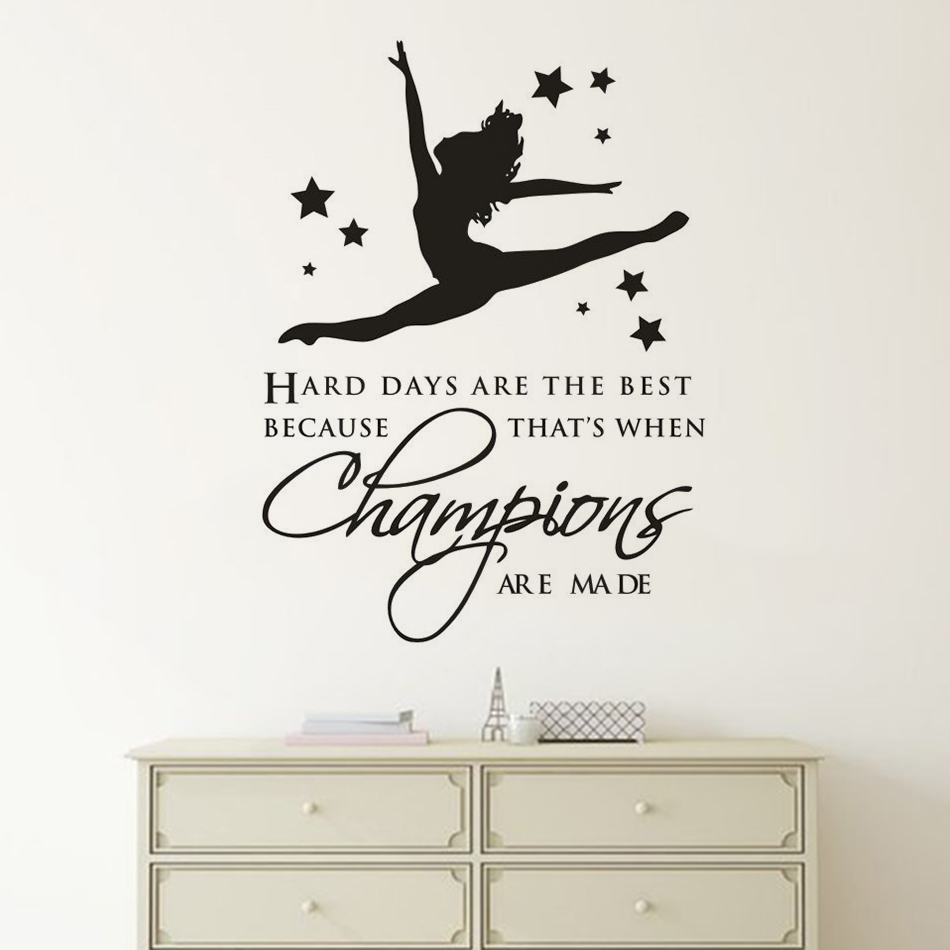 Gymnastic If you don/'t LEAP quote girls bedroom wall art poster