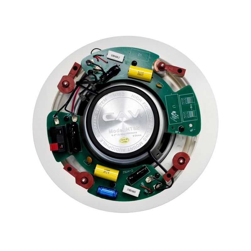 Электрические плиты CAV HT-62 In-ceiling динамик домашний кинотеатр 5,0 СИСТЕМА фоновая музыка глубокий бас аналоговая передача настенный встроенный динамик s (Фото 2)