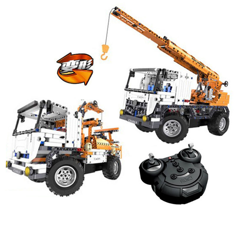 2in1 Technic Series RC Remote Control Dump Truck Building Block toy Compatible with Legoingly technican technic 2 4ghz radio remote control flatbed trailer moc building block truck model brick educational rc toy with light