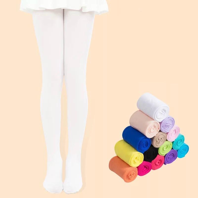 Crianças Meia-calça Meias de Dança Balé para Meninas Lotação Crianças Meia-calça de Veludo Sólido Branco Collants Meninas