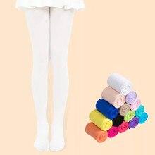 Crianças meia-calça ballet dança collants para meninas meia crianças veludo sólido branco meias meninas