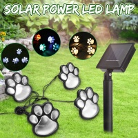 LED Solar Power Paw Dog Animal Prints Light Garden Outdoor Lamp Path Landscape Decorative Garden Lights Solar Powered
