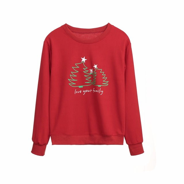 Family Matching clothes Top Women Girl Boy Kids Newest Fashion Christmas Cotton Hoodie Pullover Warm Sweatshirts pop Clothes