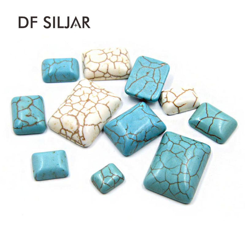 Beads Beads & Jewelry Making Creative 12mm 50pcs White Square Half Flat Back Cabochons Beads Diy Jewelry Decoration Craft Scrapbooking Accessories Ha-12
