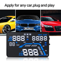 New Universal Car Auto Hud Head Up Display Projector cigarette lighter car charger connected 5.5 inch GPS Speed Warning system