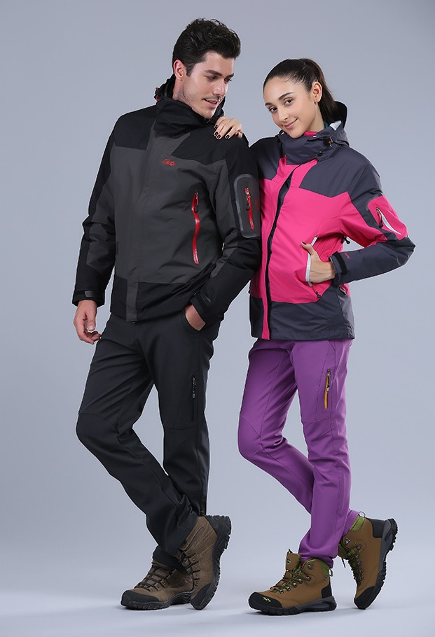 Unisex winter outdoor softshell hiking camping skiing pants couple's fleece windproof water proof outdoor trousers women outdoor softshell quick dry waterproof windproof softshell jacket winter skiing winter skiing outdoor camping jacket